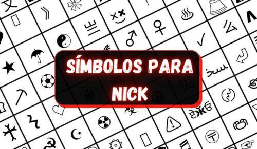 Símbolos para Nick do Free Fire