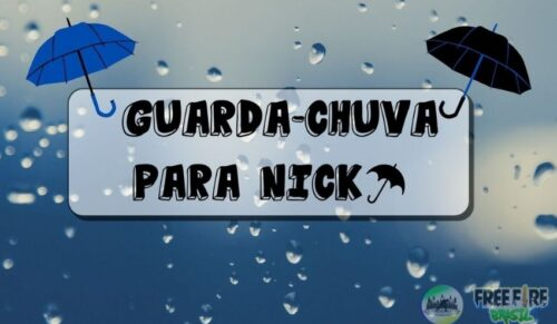 símbolos de guada chuva para nick