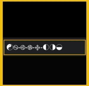 símbolos yin yang