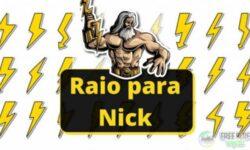 Símbolo de Raio para nick⚡+ de 20 RAIOS Diferentes