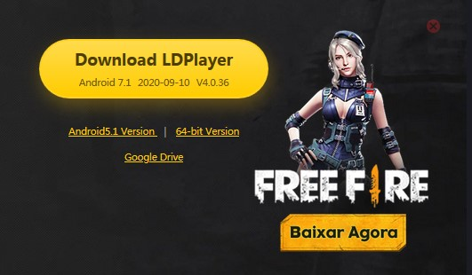 LD Player Emulador Leve para Free Fire