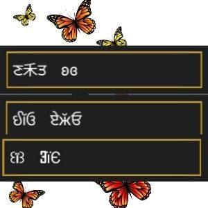 símbolos de borboleta para nick no free fire