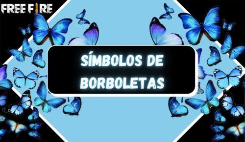 símbolos de borboleta capa