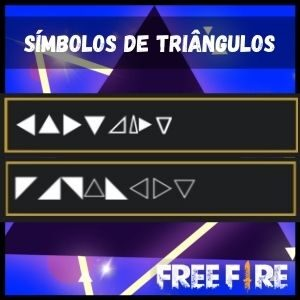 Símbolos de triângulo para nick