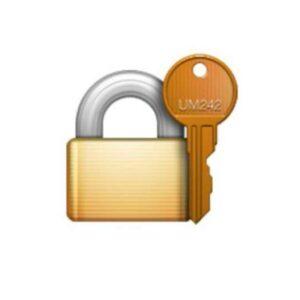 emoji de cadeado com chave