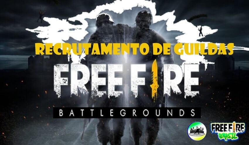 recrutamento guildas free fire
