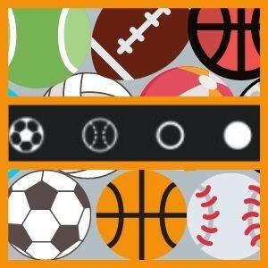 símbolos ou emoji bola de futebol, baseball para nick.