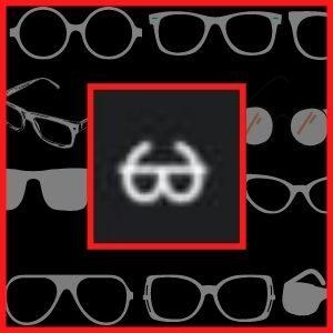 símbolos de óculos para nick