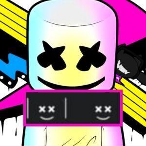 símbolo ou emoji do dj Marshemello para Nick