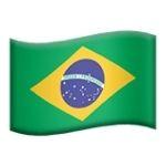 Emoji da Bandeira do Brasil representado pela empresa apple
