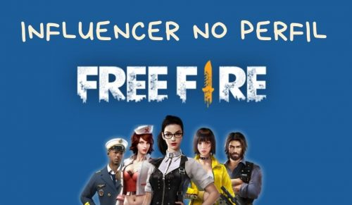 colocar influencer no perfil do free fire
