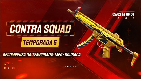 mp5 dourada