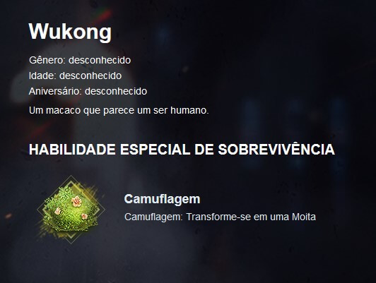 Wukong: O Personagem mais apelão do Free Fire