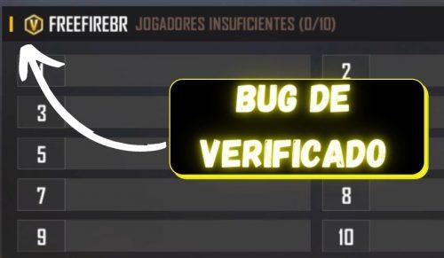 Bug de Verificado no free fire