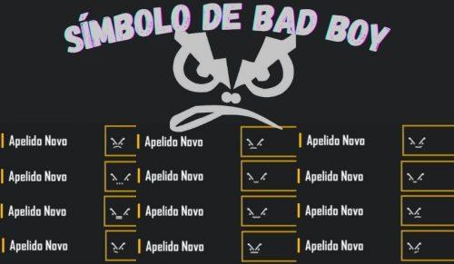 simbolo de bad boy para nick ou perfil ou bio do free fire