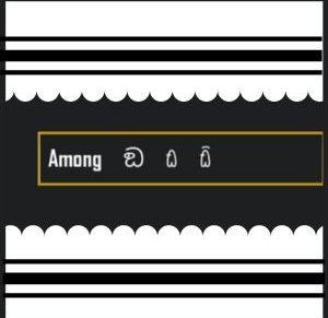 símbolo do among us para nick e perfil
