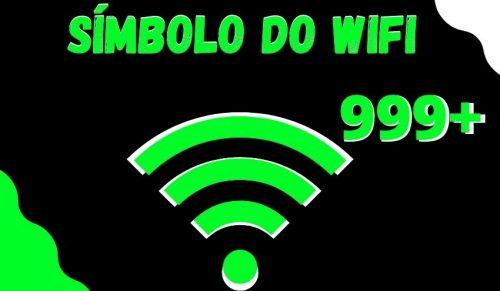 simbolo do wifi com ping alto para nick e perfil