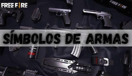 simbolos de armas para nick e perfil free fire