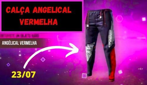 nova calça angelical vermelha