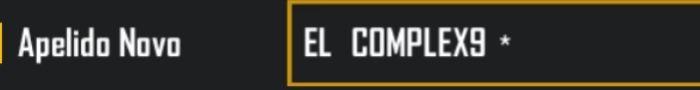 símbolo e id do complex do free fire para nick