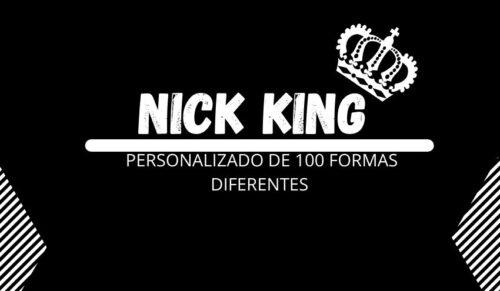 nick king personalizado de 100 formas diferentes