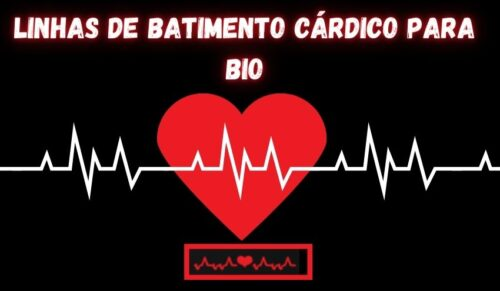 linhas de batimento cardíaco para bio