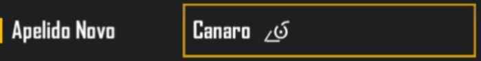simbolo do canarinho para nick