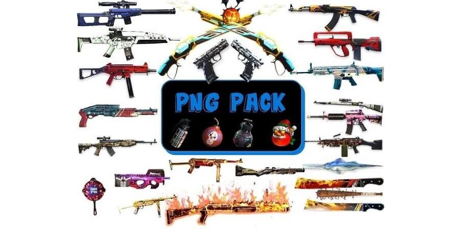 Armas Free fire em PNG para Download